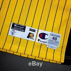 100% Authentic Mark Jackson Champion 98 99 Pacers Signed Game Issued Jersey