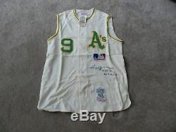 eb5a32fc9 1969 Oakland Athletics Reggie Jackson Autographed Jersey NEW Mitchell   Ness  COA