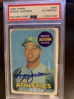 1969 Topps Reggie Jackson Hof Rookie Signed Auto Rc Autograph