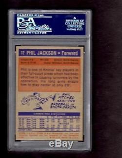 1972-73 Topps #32 Phil Jackson Signed Rookie Card- PSA/DNA New York Knicks