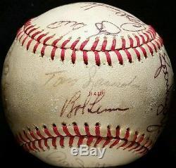 1978 WORLD SERIES NEW YORK YANKEES Team Signed BASEBALL hof REGGIE JACKSON vtg