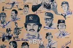 1978 Yankees Team Signed Original 17x22 Burger King Poster Reggie Jackson Goose