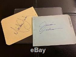 1984 Jermaine & Michael Jackson dual signed/autographed pages Jacksons Five 5