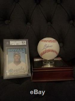 1986 Bo Jackson Topps Traded Tiffany #50T Rookie Card BGS 8.5 withAutographed Ball