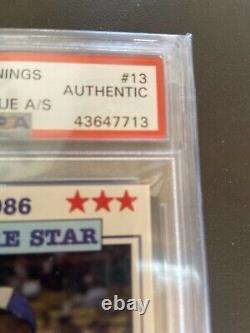 1986 Bo JacksonPOP 7 Donn Jennings Auto Signed PSA/DNA Rookie Rc Memphis