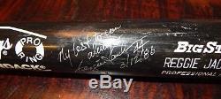 1986 Reggie Jackson California Angeles Game Used Cracked Autographed Bat Dated