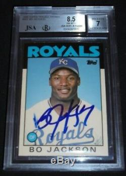1986 Topps Tiffany Bo Jackson Signed Rookie Autograph RC Auto JSA BGS 8.5 NM-MT+
