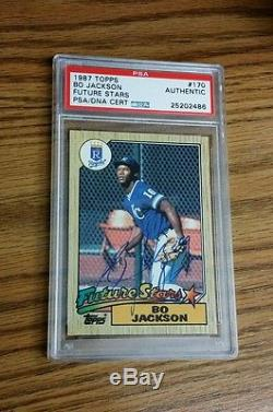 1987 Topps #170 Bo Jackson AUTOGRAPHED Rookie Card! PSA/DNA! Royals