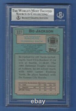 1988 Topps Bo Jackson Rc Rookie Card #327 Autograph Signed Bas Auto 10