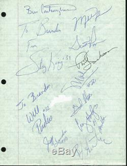1989-90 Bulls (12) Michael Jordan, Pippen, Jackson Signed 8x10.5 Cut PSA #Y02765