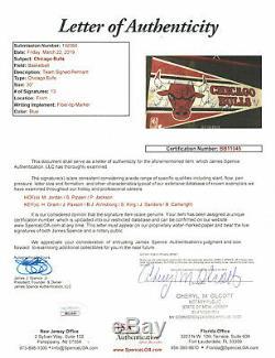 1989 Chicago Bulls Signed Pennant Michael Jordan Scottie Pippen Phil Jackson Jsa