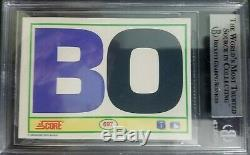 1990 Score #697 Bo Jackson BO Signed/ Autographed card (Beckett Authenticated)