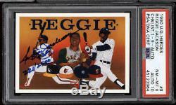 1990 Upper Deck #8 Reggie Jackson PSA DNA Auto 10 card 8 Athletics Signed