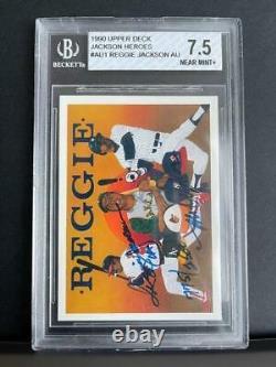 1990 Upper Deck Reggie Jackson Heroes Auto Bgs 7.5 Nm+ Signed Autograph 775/2500
