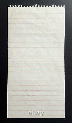 1992 MICHAEL JACKSON Emotional Autograph Note Signed after Beatles (LOA)
