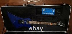 1996 Jackson Kelly Performer Guitar Blue Signed Dave Mustaine OHSC