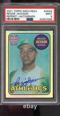 2001 Topps Archives Reserve Rookie Reggie Jackson AUTO Autograph PSA Graded Card
