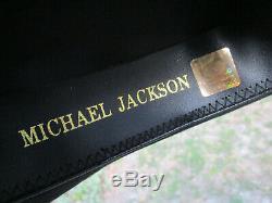 2011 Genuine Michael Jackson signed Fedora Hat with COA