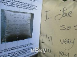2011 Genuine Michael Jackson signed Pillow Burn the Tabloids rant with COA