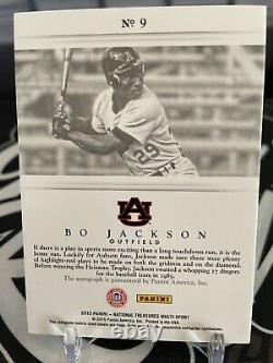 2015 Panini National Treasures Bo Jackson Signatures Auto Card 25/99 Auburn