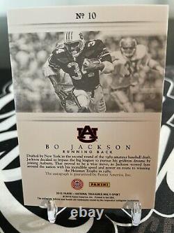2015 Panini National Treasures Bo Jackson Signatures Auto Card 3/5! Auburn