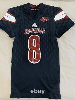 2016 Lamar Jackson Game Worn Used Issued Louisville Signed Jersey. Rare
