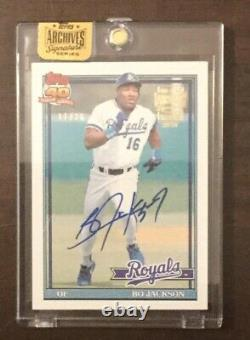 2016 Topps Archives Signed Autograph Bo Jackson 11/26