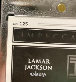 2018 Impeccable Elegance Lamar Jackson Rookie Auto Patch #/75