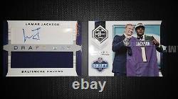 2018 Panini Limited Lamar Jackson Draft Day Signature/Jersey Booklet #13/55! Hot