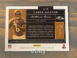 2018 Panini One Lamar Jackson 4 Color Jersey Patch Auto Rookie /25 Ravens