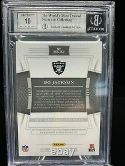 2019 National Treasures Bo Jackson NFL Shield Auto 1/1