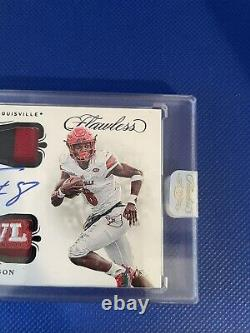 2020 Flawless Lamar Jackson Auto Bowl Patch 1/1 Louisville Ravens One Of One