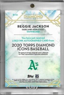 2020 Topps Diamond Icons REGGIE JACKSON Red Ink Auto /25