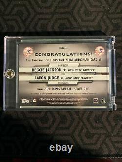 2020 Topps Series 1 Reggie Jackson Aaron Judge Baseball Stars Dual Auto 3/5