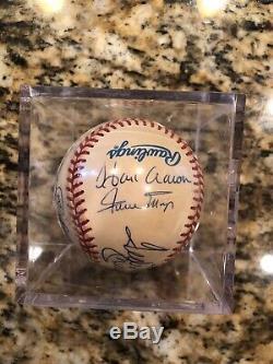 500 Home Run Club Signed Baseball Hank Aaron, Mickey Mantle, Reggie Jackson