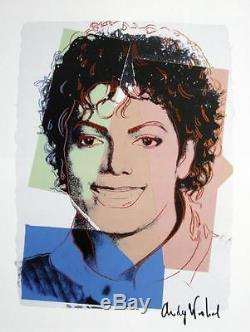 ANDY WARHOL HAND SIGNED SIGNATURE MICHAEL JACKSON PRINT With C. O. A