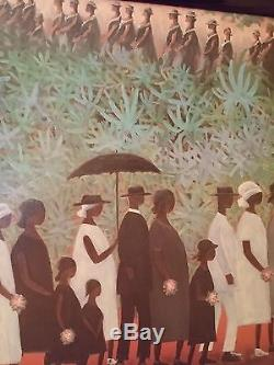 African American Ida Jackson signed The Funeral Procession Framed 1983 No. 606
