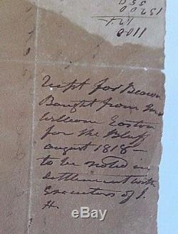 Andrew Jackson Document 22 Words In His Hand Re Food For His Slaves Signed J H