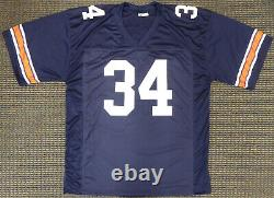 Auburn Tigers Bo Jackson Authentic Autographed Signed Blue Jersey Beckett 179058