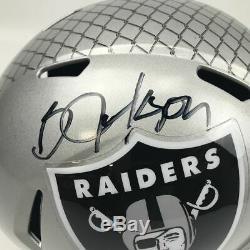 Autographed/Signed BO JACKSON Oakland Raiders Full Size Helmet Beckett BAS COA