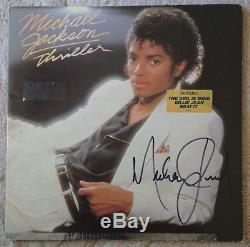 Autographed Signed Michael Jackson Thriller Vinyl LP Album