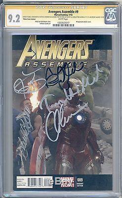 Avengers #9 CGC SS 9.2 signed Evans, Hemsworth, Ruffalo, Renner, Jackson CAST