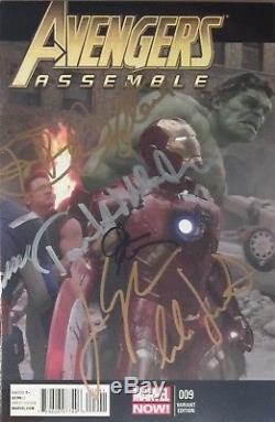 Avengers #9 Cgc Ss Cast Signed (12) Jackson Evans Hemsworth Infinity War