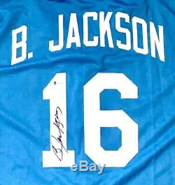 BO JACKSON AUTOGRAPHED SIGNED PRO STYLE JERSEY with BECKETT COA #WB08238
