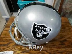 BO JACKSON Autographed Oakland Raiders Full Size Helmet LEAF Certified Hologram