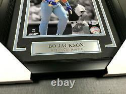 BO JACKSON BROKEN BAT ROYALS AUTOGRAPHED SIGNED 8x10 FRAMED PHOTO BAS COA