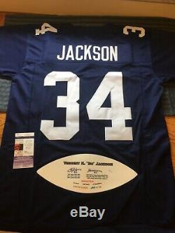 BO JACKSON Custom Autographed Auburn Stat Jersey Inscribed 85 Heisman JSA Cert