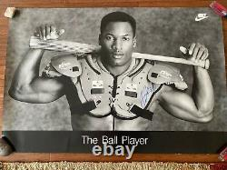 BO JACKSON NIKE THE BALL PLAYER 1988 24 x 36 Poster Signed Autographed