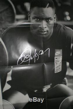 BO JACKSON Signed Vintage Nike PROMO Poster 24X36 JSA WPP COA Raiders Royals