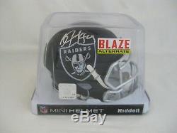 BO JACKSON signed/autographed OAKLAND RAIDERS Speed BLAZE Mini Helmet Beckett